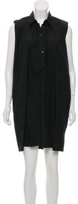 Saint Laurent Sleeveless Button-Up Dress