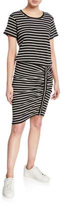 Veronica Beard Cortland Ruched T-Shirt Mini Dress