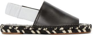 Proenza Schouler Black Espadrille Sandals $545 thestylecure.com