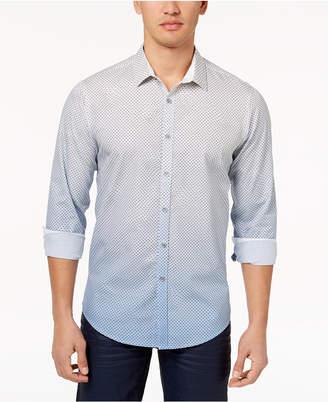 INC International Concepts I.n.c. Men's Ombre Geometric Pattern Shirt