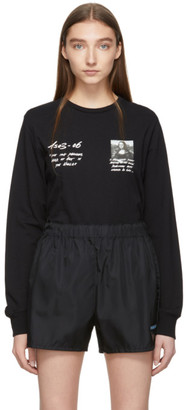 Off-White Black Monalisa Long Sleeve T-Shirt
