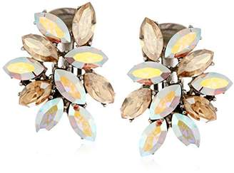 Swarovski Ben-Amun Jewelry Crystal Amore Cluster Clip-On Earrings for Bridal Wedding Anniversary