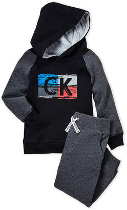 Calvin Klein Jeans Toddler Boys) Two-Piece Logo Print Hoodie and Pants Set