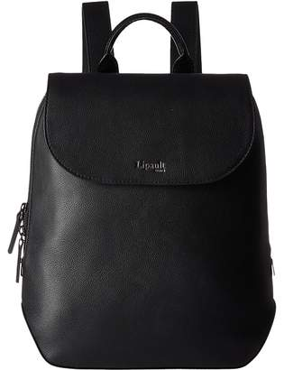 Lipault Paris Plume Elegance Leather Laptop Medium Backpack Backpack Bags