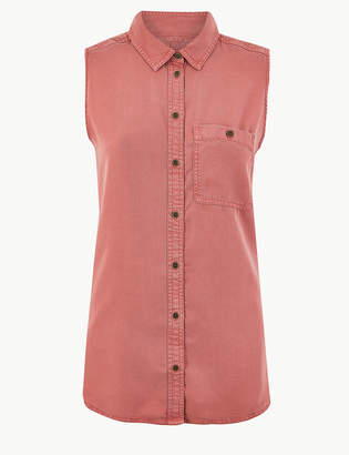 Marks and Spencer Button Detailed Shirt