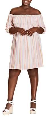 City Chic Island Stripe Dress