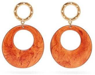 Lizzie Fortunato La Fonda Hoop Drop Earrings - Womens - Brown