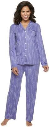 Croft & Barrow Petite Pajama Shirt & Pajama Pants Set