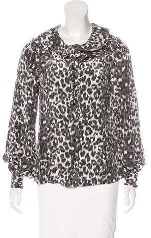 Kate Spade New York Silk Leopard Print Blouse