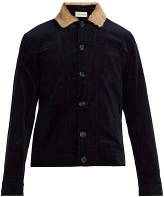 Oliver Spencer Buffalo corduroy shearling-trimmed jacket