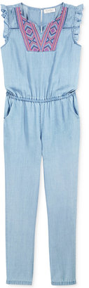 Jessica Simpson Goldie Chambray Jumpsuit, Big Girls (7-16) $54.50 thestylecure.com