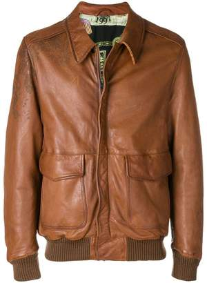 Etro leather bomber jacket