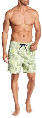 Tailor Vintage Lily Pad Print Swim Volley Trunks