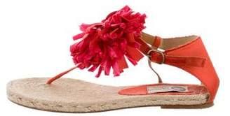 Lanvin Floral-Appliqué Espadrille Sandals