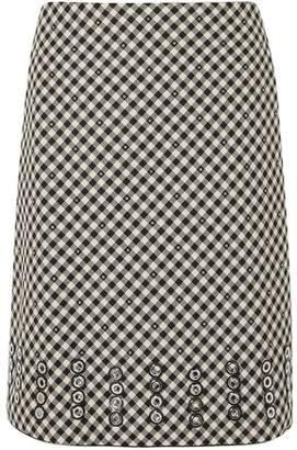 2e645d2f3e Bottega Veneta Eyelet-embellished Gingham Cotton And Wool-blend Skirt