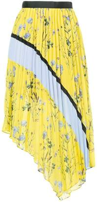 Self-Portrait pleated asymmetric skirt