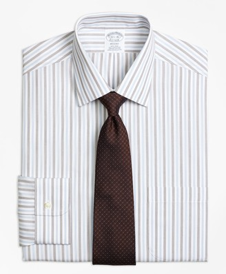 Brooks Brothers Regent Fitted Dress Shirt, Non-Iron Hairline Framed Stripe
