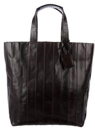 Reed Krakoff Pleated Leather Tote Brown Pleated Leather Tote