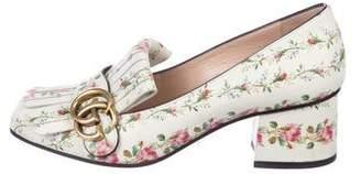 Gucci Floral Marmont GG Pumps
