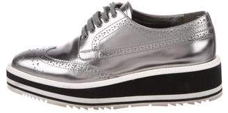 Prada Leather Brogue Oxfords