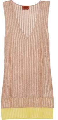 Missoni Layered Metallic Ribbed-Knit Top