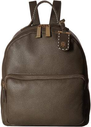Tommy Hilfiger Julia Pebble Leather Dome Backpack Backpack Bags