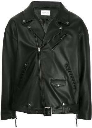 Monkey Time Leather Biker Jacket