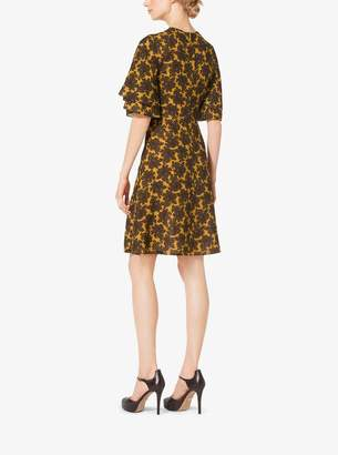 Michael Kors Paisley Silk-Georgette Dress