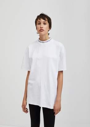 Acne Studios Gojina Dyed Neck Logo Tee White