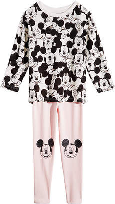 Disney Little Girls 2-Pc. Mickey Mouse Hacci Tunic & Leggings Set