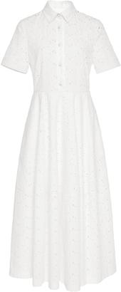 Co Poplin Flower Cutout Shirt Dress $875 thestylecure.com