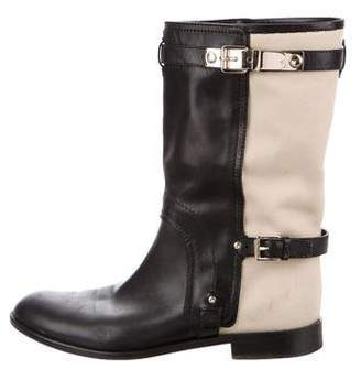 Christian Dior Buckle Mid-Calf Boots