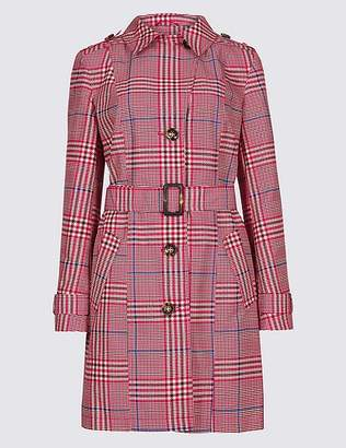 Marks and Spencer Checked Trench Coat with StormwearTM