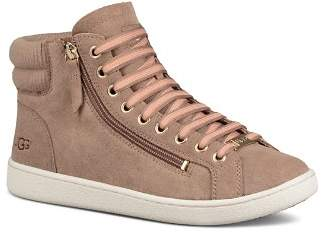 UGG Women's Olive Leather High Top Sneakers
