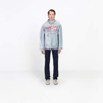 Balenciaga Dry clean inspiration denim jacket