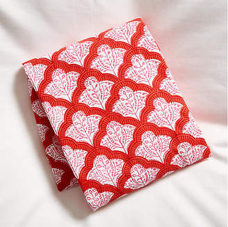 Roller Rabbit Jemina Fitted Crib Sheet - Red