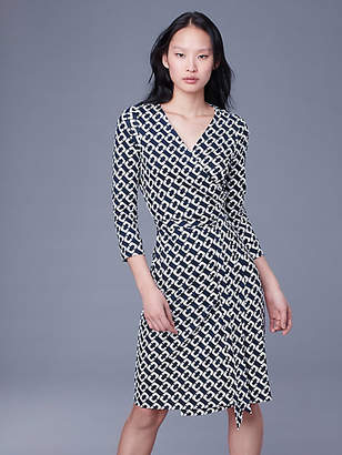 Diane von Furstenberg New Julian Silk Jersey Wrap Dress
