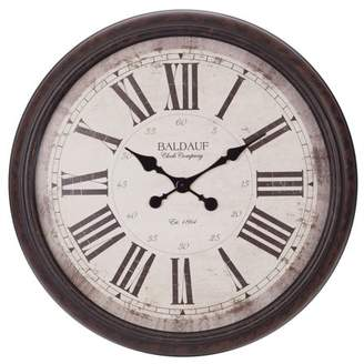 "Patton Wall Decor 30"" Antique Bronze Baldaud Roman Numeral Wall Clock"