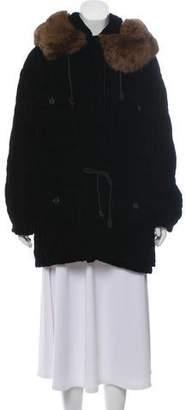 Calvin Klein Hooded Short Coat