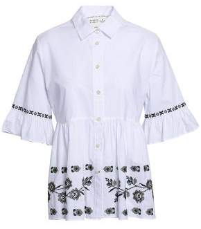 Kate Spade Embroidered Cotton Shirt