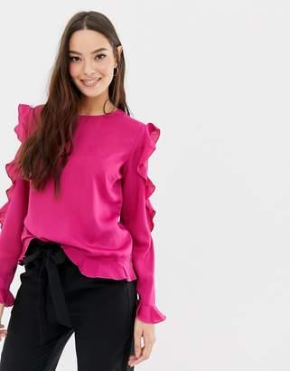 Vila Frill Lace Sleeve Top