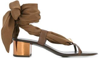 scarf tie sandals