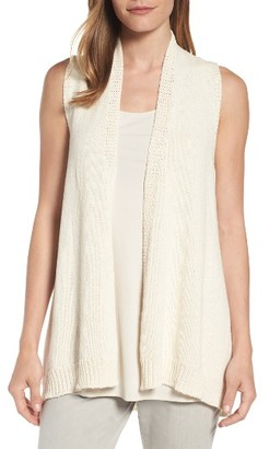 Women's Eileen Fisher Cotton Blend Vest $238 thestylecure.com