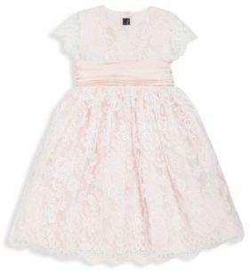 Little Girl's Floral Silk Dress $1,290 thestylecure.com