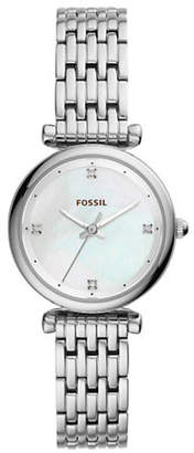 Fossil Carlie Three-Hand Stainless Steel Bracelet Watch