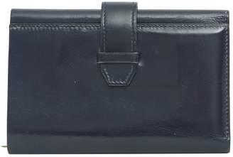 Hermes Vintage Navy Leather Wallets