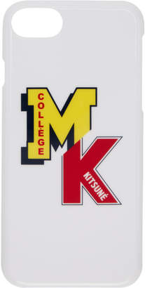 MAISON KITSUNÉ White MK College iPhone 7 Case