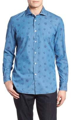 Luciano Barbera Trim Fit Floral Sport Shirt