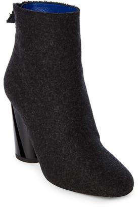 Proenza Schouler Black Felt Ankle Booties