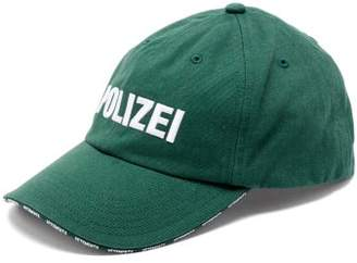 Vetements Polizei Embroidered Baseball Cap - Womens - Green
